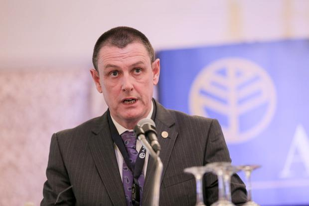 AGSI president Tim Galvin has criticised Garda Commissioner Nóirín O'Sullivan at the annual conference in Westport, Co Mayo. Photo : Keith Heneghan / PhocusEuropean