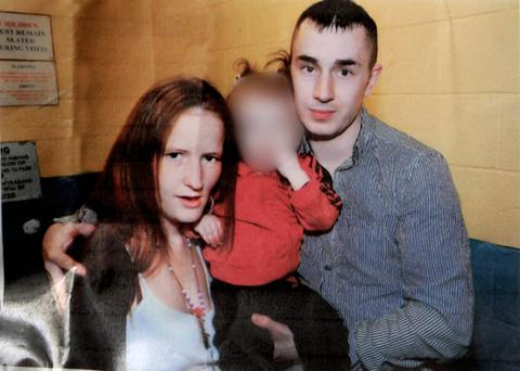 Tragic shooting victim Martin O'Rourke pictured with his partner Angelina Power
