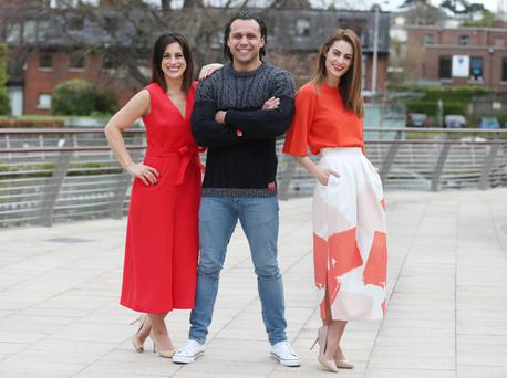 Lucy Kennedy with Leinster captain Isa Nacewa and Madeline Mulqueen at the launch. Photo: Photocall