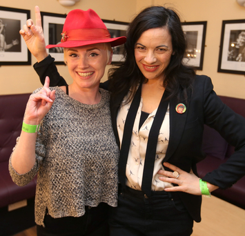 Niamh Farrell, of HamsandwicH, and singer Camille O'Sullivan Photo: Damien Eagers