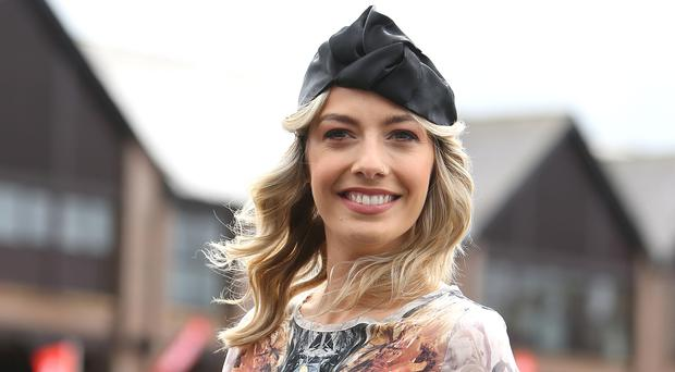 RTE presenter Bláthnaid Treacy at the Punchestown festival