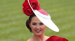 Jennifer Wynne, from Mohill, Leitrim, at Punchestown yesterday. Photo: Damien Eagers