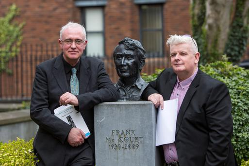 HOLDING COURT: Joseph O Connor and Eoin Devereux at the Frank McCourt Summer School in Creative Writing launch
