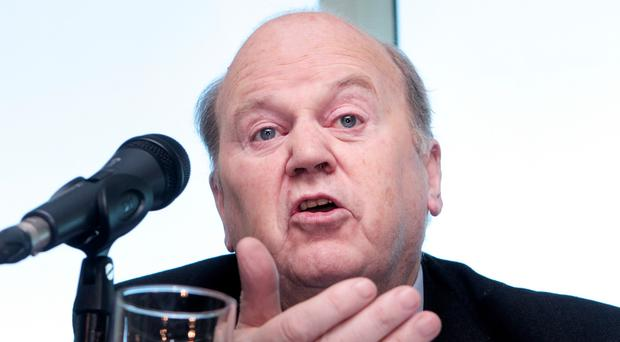 The document includes a version of Mr Noonan's pre-election plan to establish a 'Rainy Day' fund
