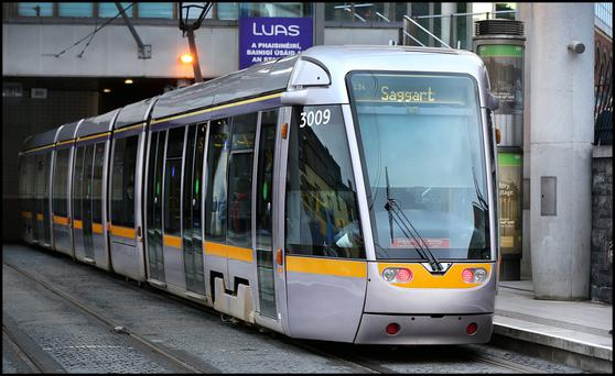 Luas in operation (Picture: Steve Humphreys)