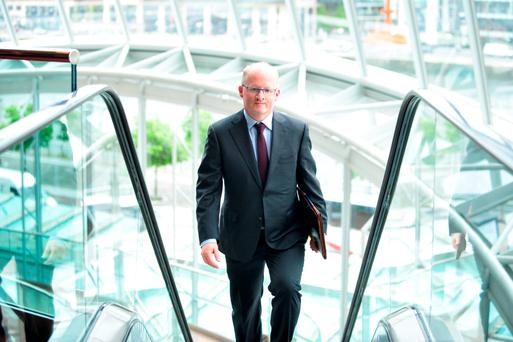 Central Bank Governor Philip Lane at the International Capital Market Association conference in Dublin, yesterday. Photo: Bloomberg