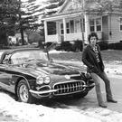 Bruce Springsteen with his Corvette in 1978