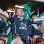 Connacht supporters celebrate their team's victory at Murrayfield Photo: Toby Williams