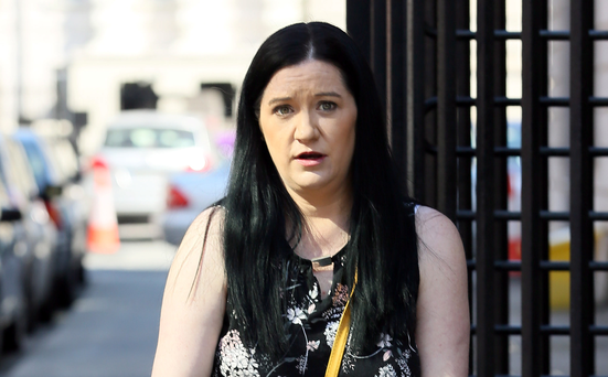 Maura Bohan, from Chapelizod, Dublin, leaves court after the settlement. Photo: Collins