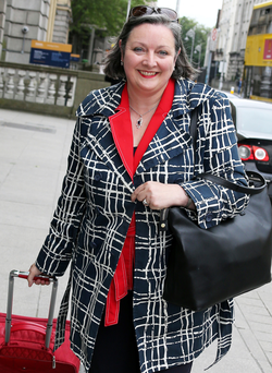 Marcella Corcoran Kennedy outside Leinster House Photo: Tom Burke