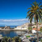 The pretty little harbour village of Camara de Lobos, noted for its fishing.