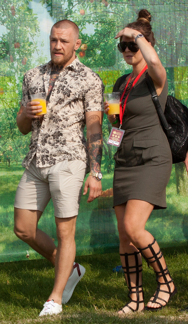 Conor McGregor at the Forbidden Fruit festival Photo: Michael Donnelly