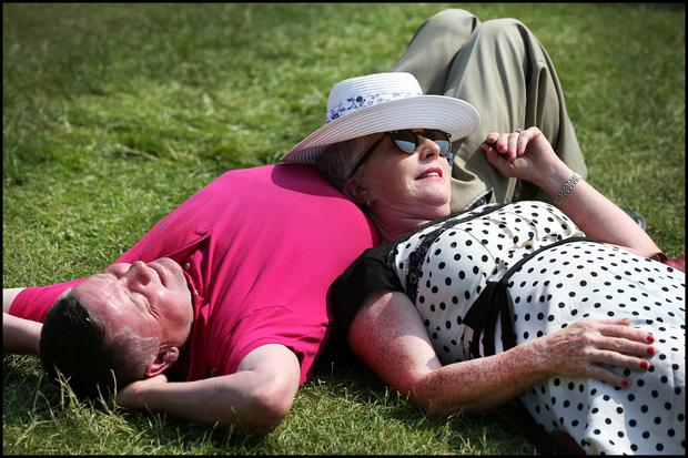 Albert and Patricia Boyhan from Crookedwood, Co Westmeath, at Bloom Photo: Steve Humphreys