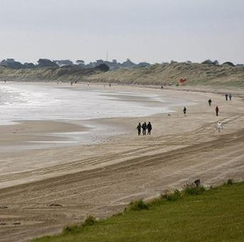 A 'Do Not Swim' notice was issued at Velvet Strand Beach in Portmarnock.