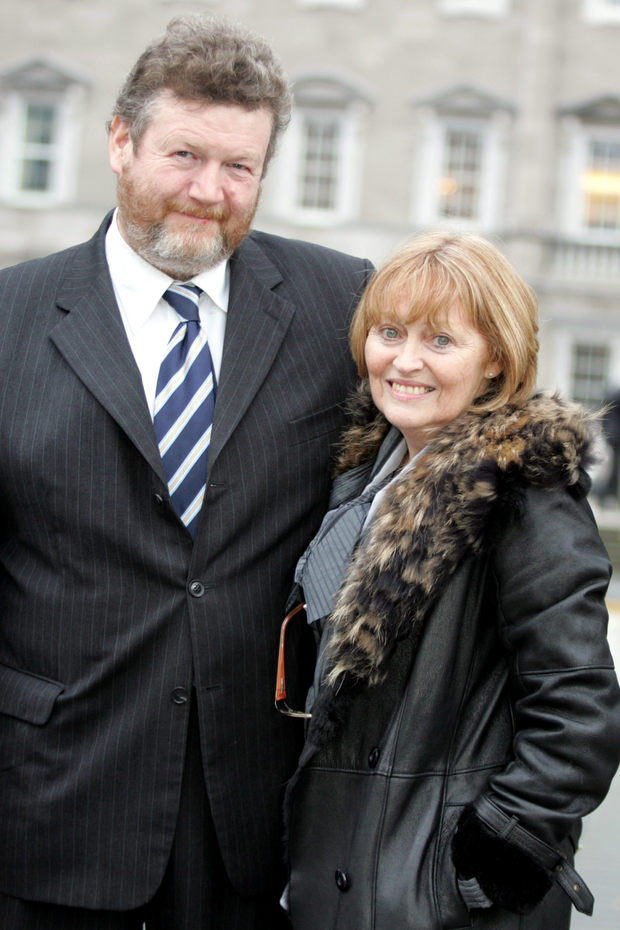 New role: Senator James Reilly and his wife Dorothy