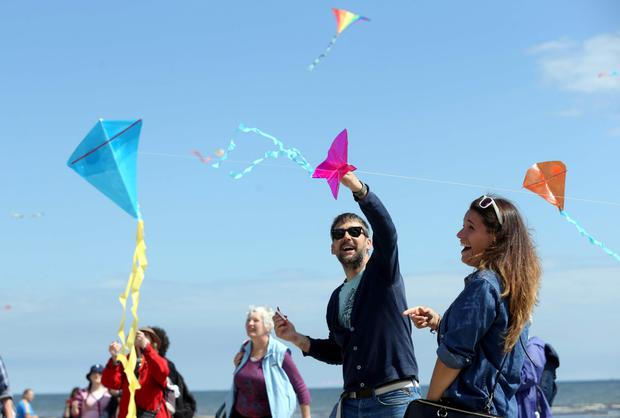 Thousands of kite fliers and spectators of all ages gathered in North Bull Island, Clontarf, to experience the spectacular Dublin Kite Festival