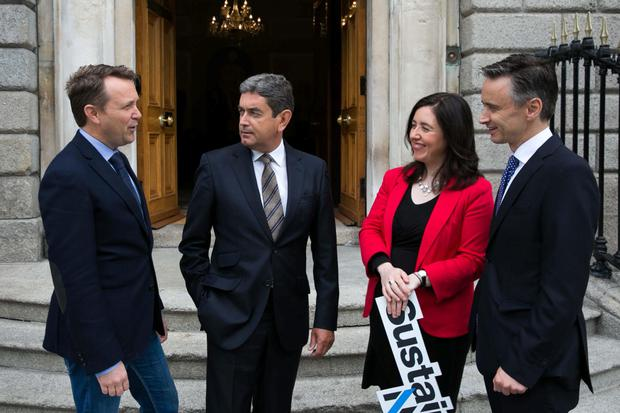 Wayne Byrne, OxyMem; Fintan Whelan; Sustainable Nation's Aideen O'Hora; and Elliott Griffin, BVP Investments, at launch