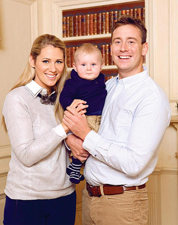 RTE sports presenter Evanne Ni Chuilinn and Brian Fitzsimons shows off her eight-month old son Seimi at a photoshoot for VIP Magazine