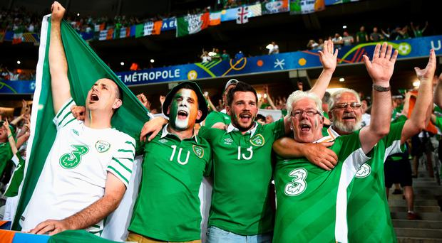Ireland and Italy fans in full voice in Lille's Stade Pierre, and soaking up the atmosphere around the town before the game. Photo: Mark Condren