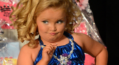 Negative image: US child beauty pageant star Honey Boo Boo Photo: INFphoto.com