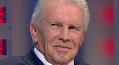 National icon John Giles on RTÉ for the final time last night. Photo: RTE