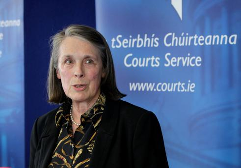 Chief Justice Susan Denham launched the annual report of the Courts Service in Dublin. Photo: RollingNews.ie