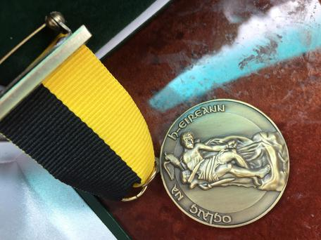 TIES: A Provo medal similar to one Martin McGuinness is thought to have received