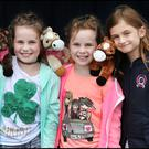 Twins Kayla and Chloe Reilly (8) and friend Maria Hayden (7) Photo: Steve Humphreys
