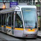 The attack happened at a Luas stop