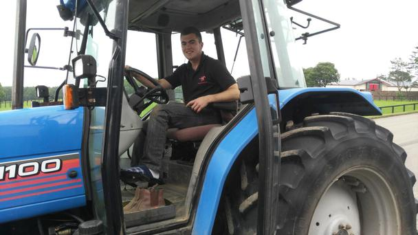 John Smith, Meath farmer and final year agricultural engineering student at Tralee IT, adheres to cultural tradition by driving a tractor in slippers while on placement on a farm in Hidaka, Hokkaido, Japan