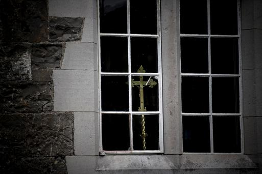 A window at to the world: A glimpse inside Maynooth seminary. Photo: Mark Condren