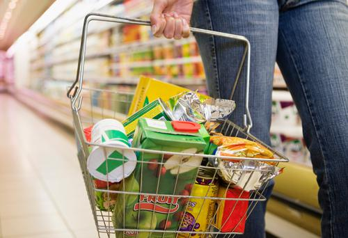 Consumers are benefiting from massive savings as retailers take advantage of the Brexit vote by buying up huge stocks of non-perishable food, sweets and soft drinks from wholesalers in Northern Ireland. Stock Image