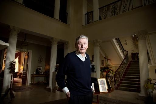 Dr Michael Smurfit pictured at his house on the K Club