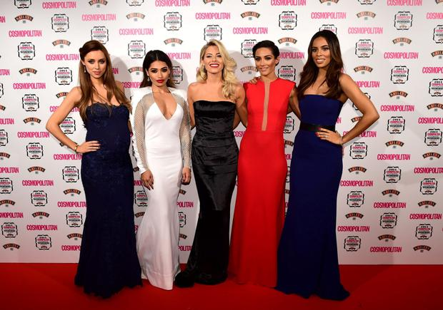 Una Foden, Vanessa White, Mollie King, Frankie Bridge and Rochelle Humes, of the Saturdays