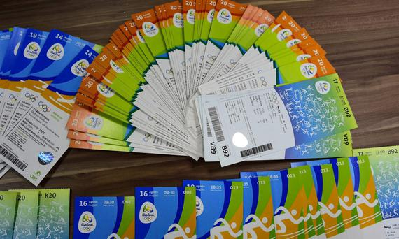 The tickets seized by the police in Rio. The ticket states it's for use by Irish residents
