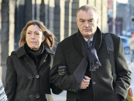Ian Bailey with his partner Jules Thomas Picture: Collins