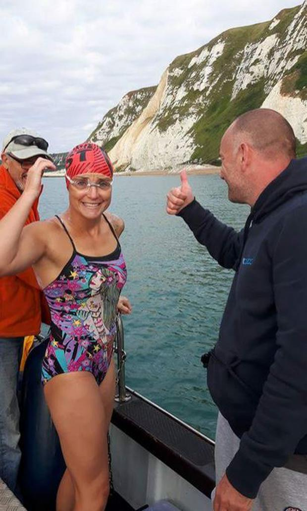 Rachel Lee is taking on the icy challenge of swimming the English Channel Photo: DFB