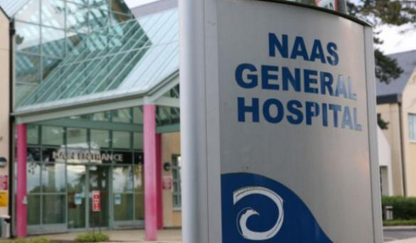 The man became aggressive when he was told to wait to be seen at Naas hospital
