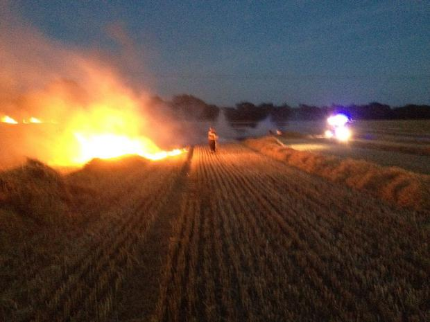The fire at Kinsealy took an hour to control Photo: DFB
