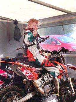 Daniel Sheridan (13) who died in a motocross crash in Derry