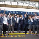 Managers and staff of the Grand Hibernian at Heuston Station yesterday. Photo: Tony Gavin