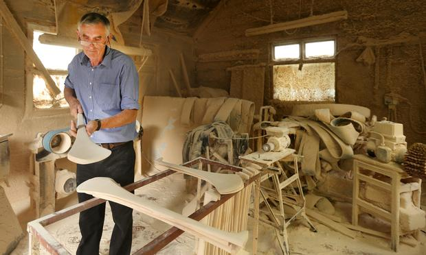 Jim O'Brien in his workshop in Drangan, Co Tipperary Photo: Gerry Mooney