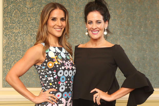 TV Presenter and ISPCC Ambassador Amanda Byram, left, with Brown Thomas fashion director Shelly Corkery at the ISPCC luncheon last week