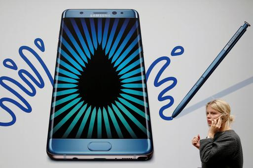 Customers will be able to swap Note 7s for new smartphones. Photo: Reuters