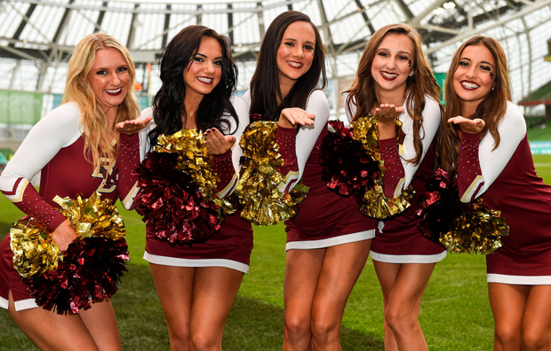 Cheerleaders from Boston College Photo: Sportsfile