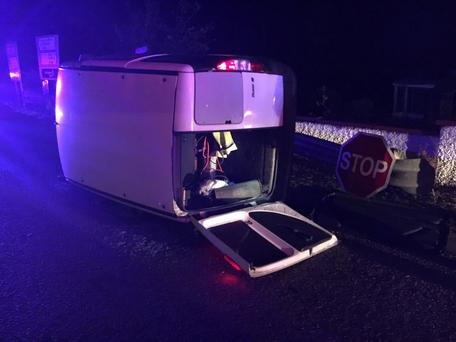The driver received no life-threatening injuries Photo: Twitter