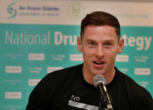Dublin footballer Philly McMahon talks about the new national drugs strategy. Photo: Tom Burke
