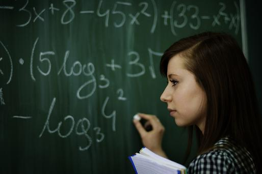 Irish second-level schools allocate 12pc of time to maths, in line with international norms. But, that is 12pc of a 167-day year, compared with 200 days in Australia, 240 in Germany and Japan and 280 in Singapore (Stock image)