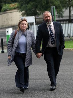 Siobhan and Andrew Whelan, the parents of baby Conor at Cavan courthouse Photo: Lorraine Teevan