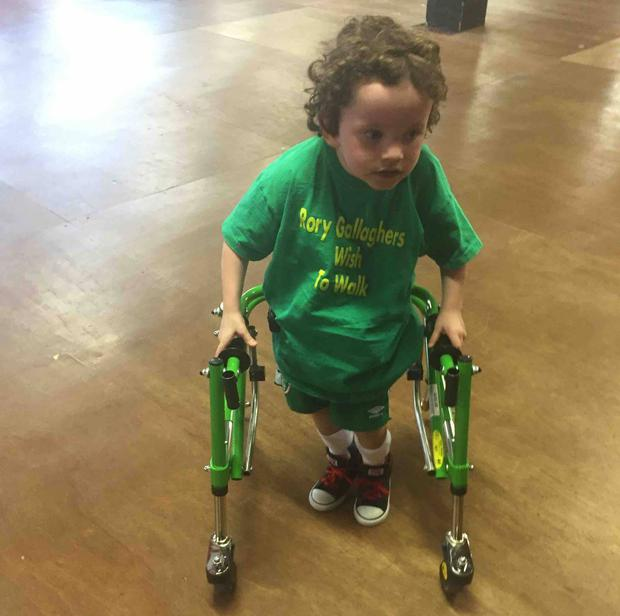Rory can now walk with his walker, despite being told he'd have to be in a wheelchair